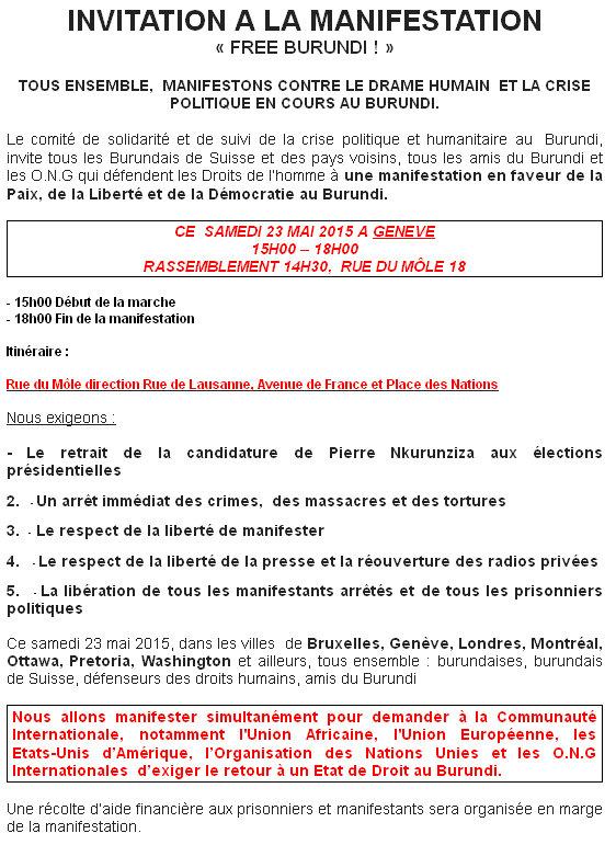 #freeburundi suise