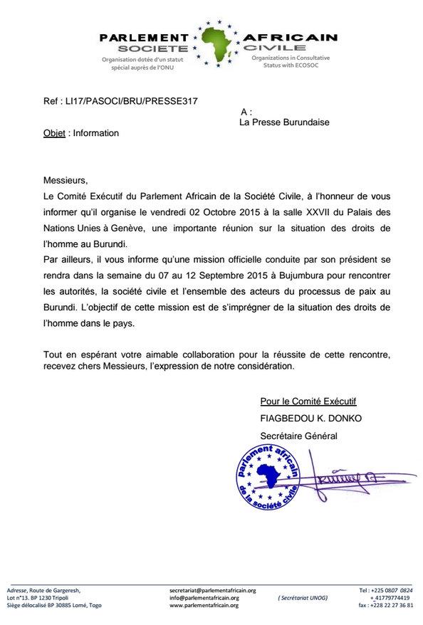 Reunion sur le Burundi à l'ONU